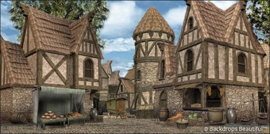 Backdrops: Medieval Village 4
