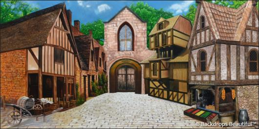 Backdrops: Medieval Village 5
