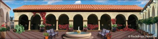 Backdrops: Spanish Courtyard 1