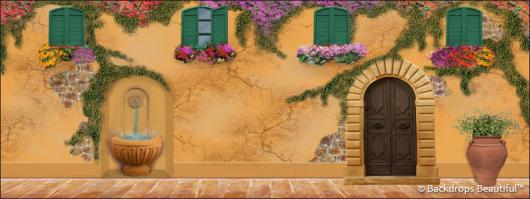 Backdrops: Courtyard 1 Wall