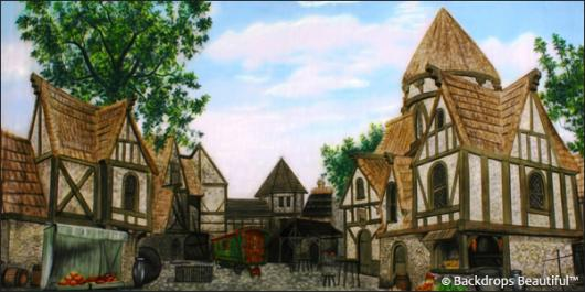 Backdrops: Medieval Village 1