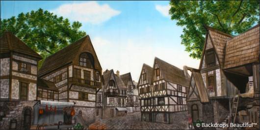 Backdrops: Medieval Village 2