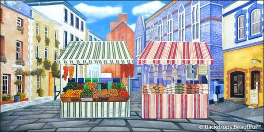 Backdrops: Sidewalk Market 1