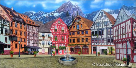 Backdrops: European Courtyard 2