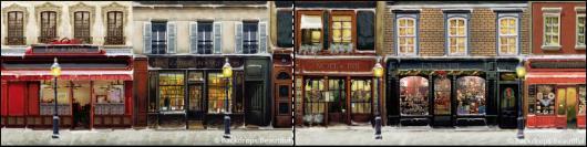 Backdrops: European Street Scene 1B Panel