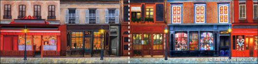 Backdrops: European Street Scene 10B Panel