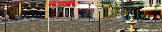 Backdrops: French Street 3 Panel