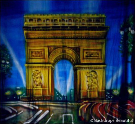 Backdrops: Paris Arch De Triumph 1A