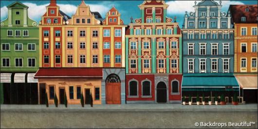 Backdrops: European Courtyard 3