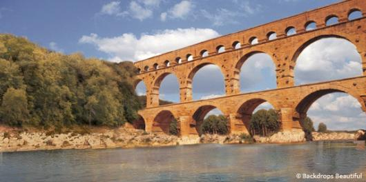 Backdrops: French Aqueduct