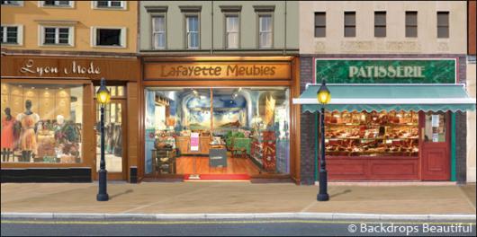 Backdrops: Shopfront 3 France