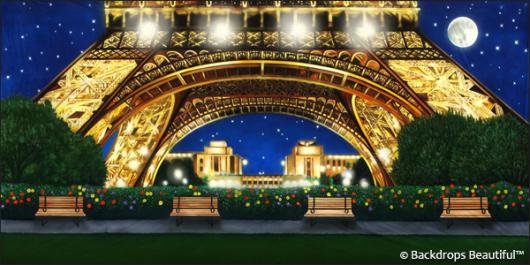 Backdrops: Paris Eiffel Tower 5 Night