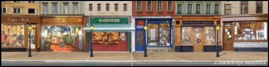 Backdrops: Shopfront 4 France Panel