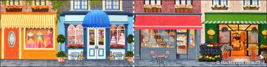 Backdrops: Shopfront 6 Cafe Panel