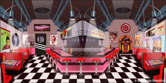 Backdrops: Diner Inside 4