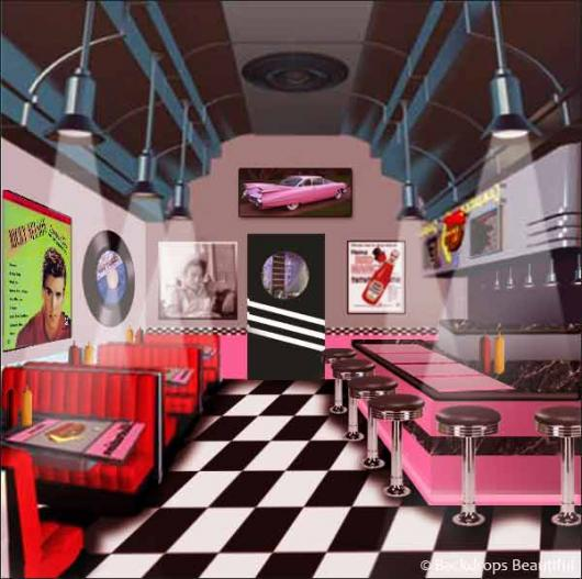 Backdrops: Diner Inside 2A