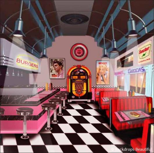 Backdrops: Diner Inside 2B