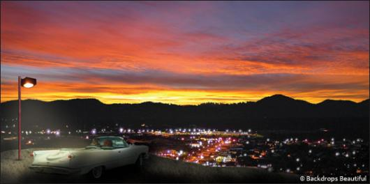 Backdrops: Car Sunset 2