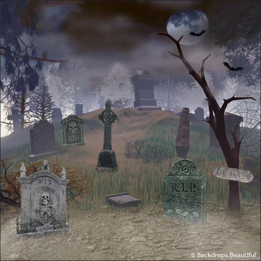 Backdrops: Graveyard 2