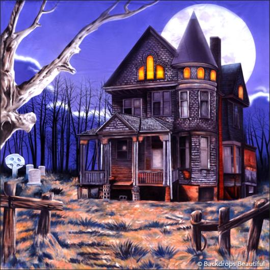 Backdrops: Haunted House 1