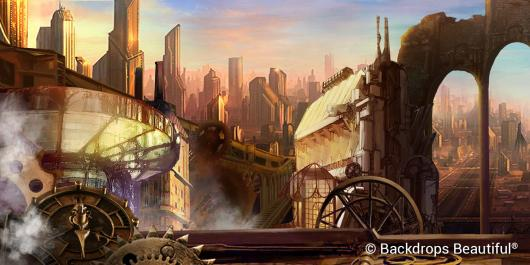 Backdrops: Steampunk  11 Metro