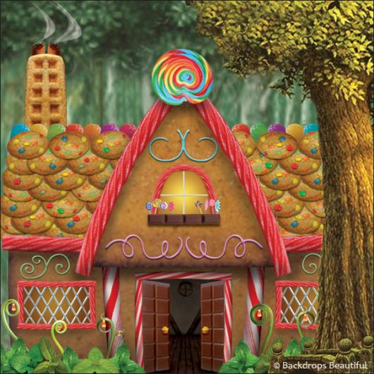 Backdrops: Gingerbread House