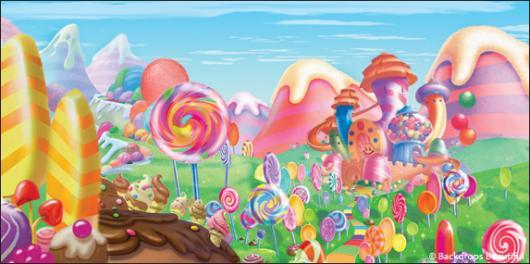 Backdrops: Candyland 8B