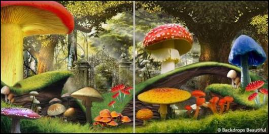 Backdrops: Alice in Wonderland 1C Panel