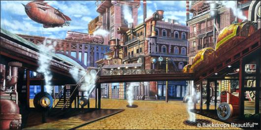 Backdrops: Steampunk 3 Metro