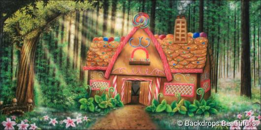 Backdrops: Gingerbread House 2