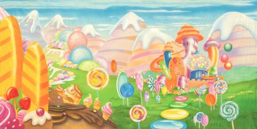 Candyland backdrop the image kid has it for Candyland wall mural
