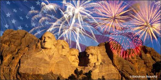 Backdrops: Fireworks Rushmore 2