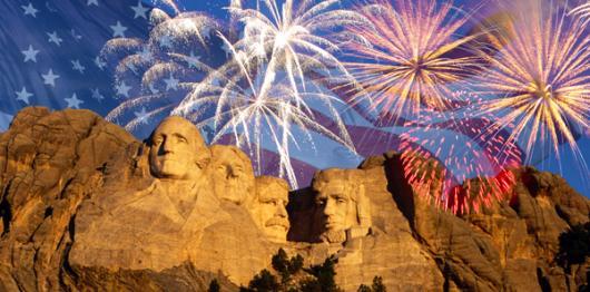Backdrops: Fireworks Rushmore 1