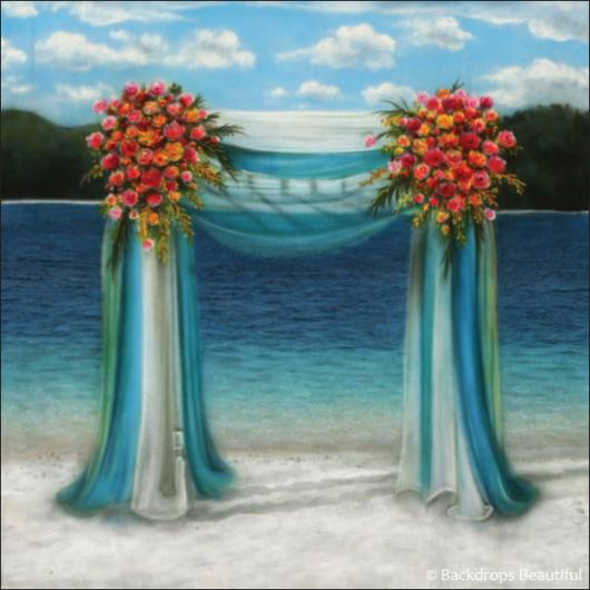 Wedding Canopy Rental: Hand Painted Scenic Backdrop Rentals