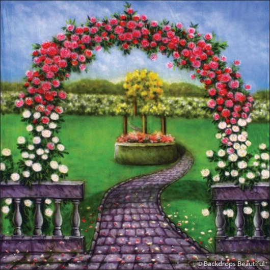 Rose Garden Backdrop 1 Backdrops Beautiful