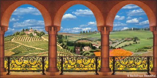 Backdrops: Elegant Garden 6A