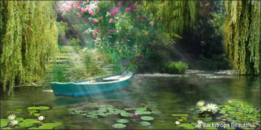 Backdrops: Pond 1 Boat
