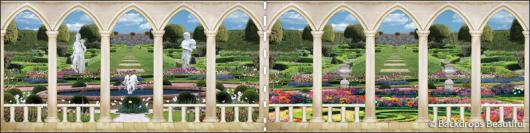 Backdrops: Elegant Garden 7 Panel