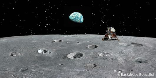 Backdrops: Moon Landing 1