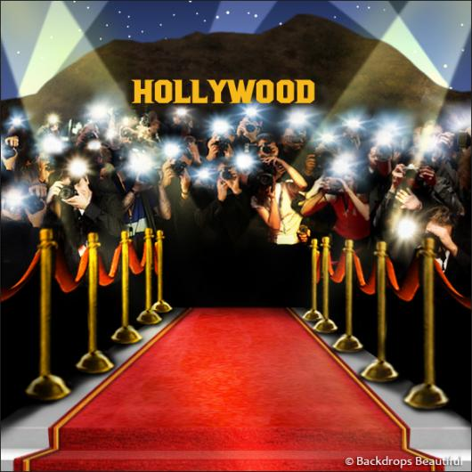 Paparazzi Celebrity Hollywood Backdrop 4A Backdrops
