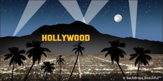Backdrops: Hollywood Sign 4 Blue