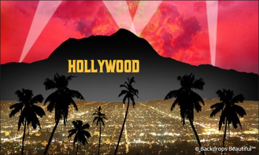 Backdrops: Hollywood Sign 5 Red