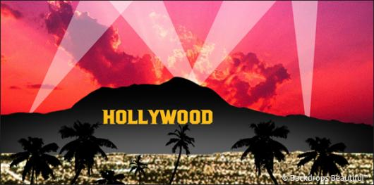 Backdrops: Hollywood Sign 1 Red