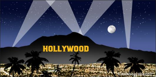 Backdrops: Hollywood Sign 2 Blue