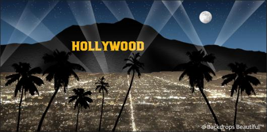 Backdrops: Hollywood Sign 7 Blue