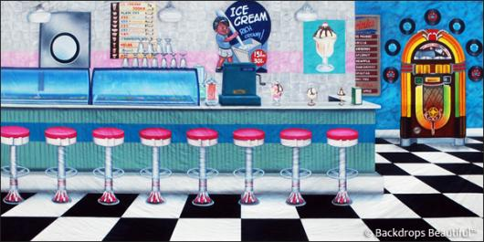 Backdrops: Ice Cream Shop 1