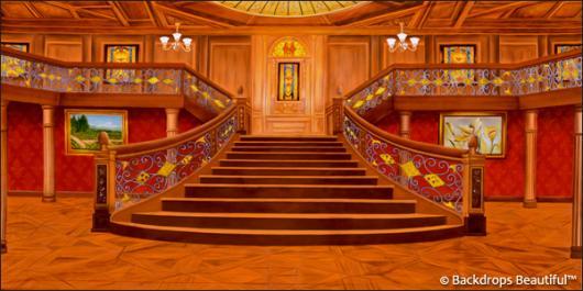 Backdrops: Mansion Interior 11 Wood