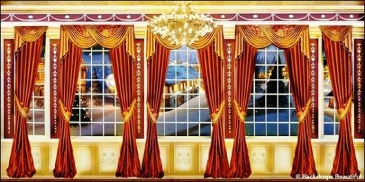 Backdrops: Mansion View  4 Drapes
