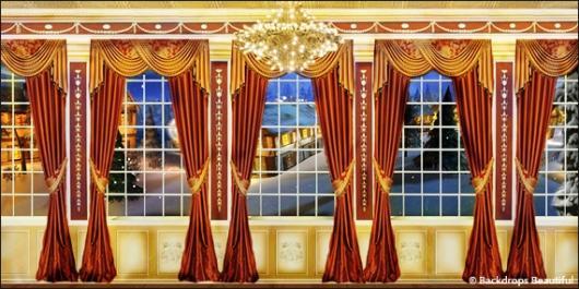 Backdrops: Mansion View  5B Drapes