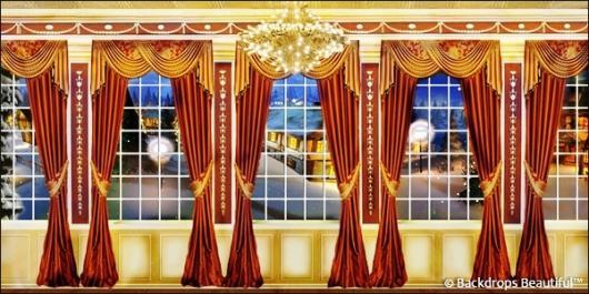 Backdrops: Mansion View  7B Drapes